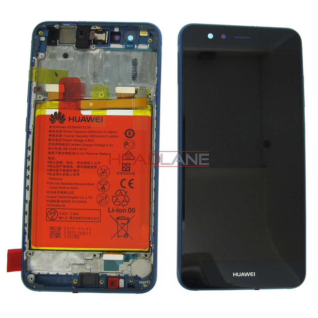 Huawei P10 Lite LCD Display / Screen + Touch + Battery Assembly - Blue