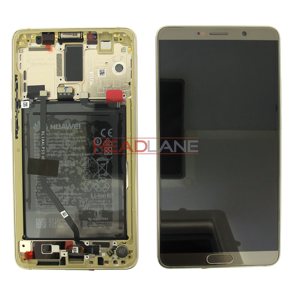 Huawei Mate 10 LCD Display / Screen + Touch + Battery Assembly - Brown
