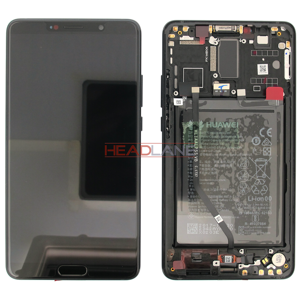 Huawei Mate 10 LCD Display / Screen + Touch + Battery Assembly - Black