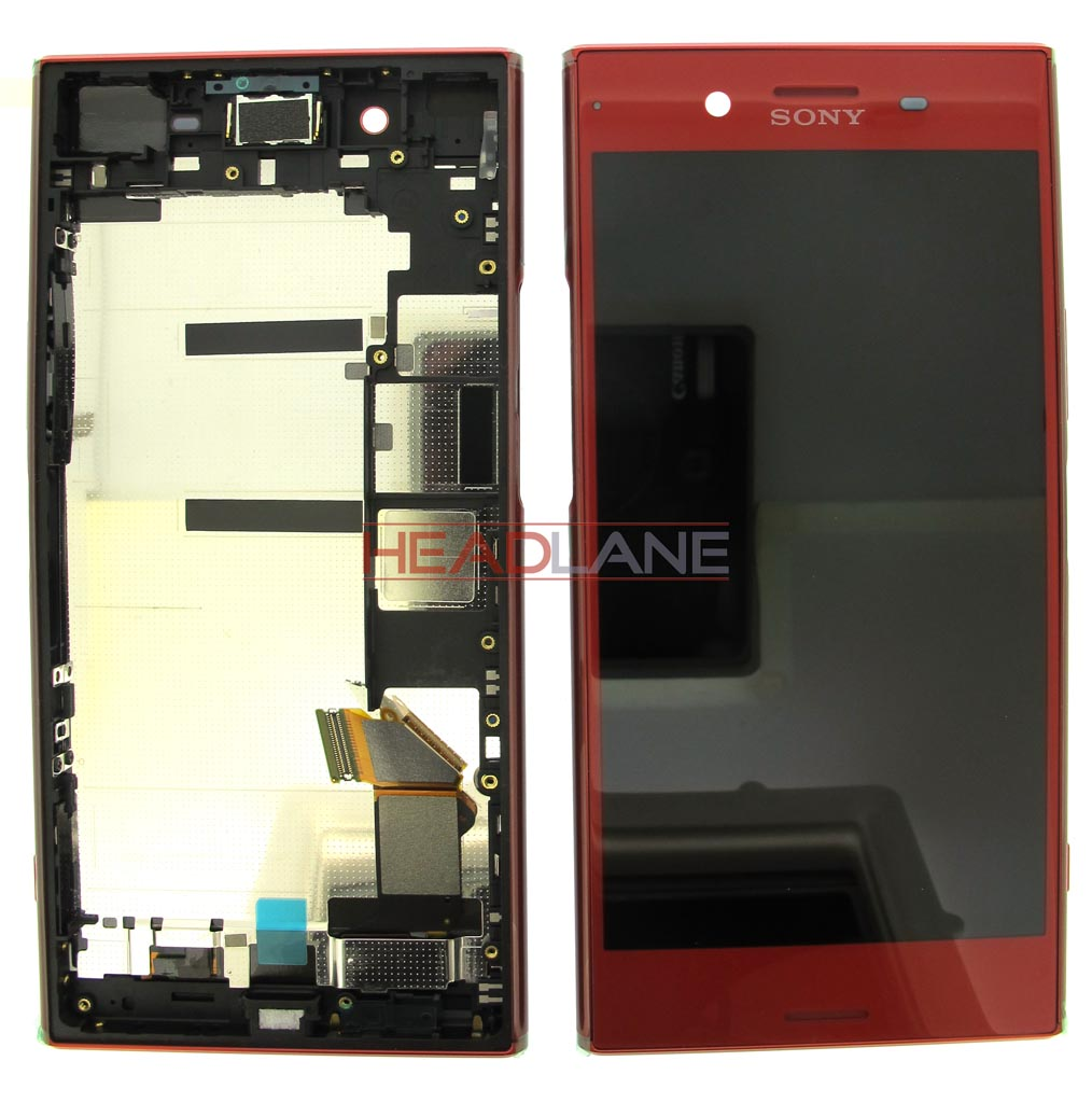 Sony G8142 Xperia XZ Premium (Dual SIM) LCD Display / Screen + Touch - Red