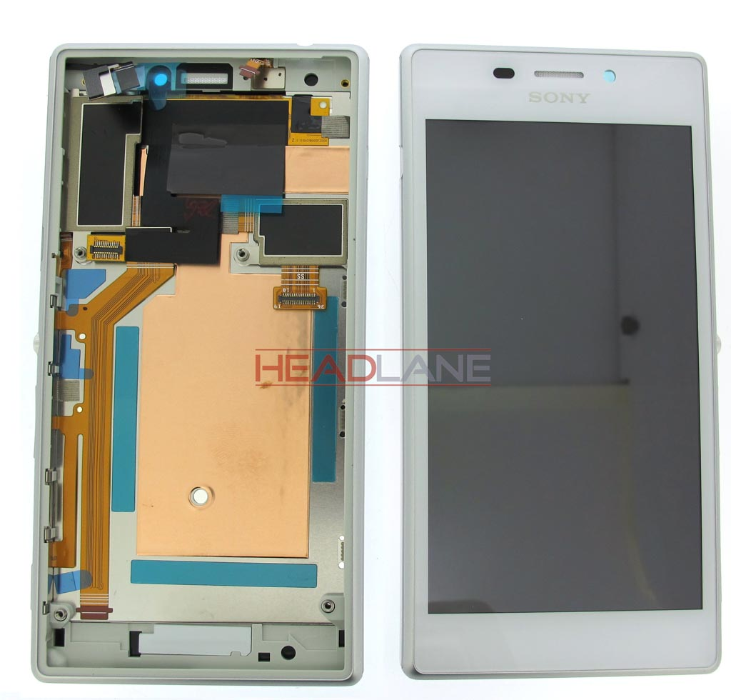 Sony D2305 / D2306 Xperia M2 LCD Display / Screen + Touch - White