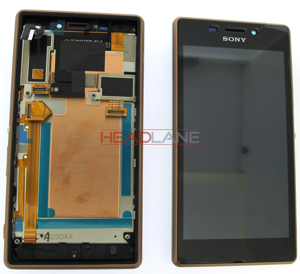 Sony D2403 / D2406 Xperia M2 Aqua LCD Display / Screen + Touch - Copper