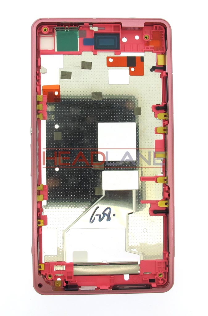 Sony D5503 M51W Xperia Z1 Compact Middle Cover - Pink