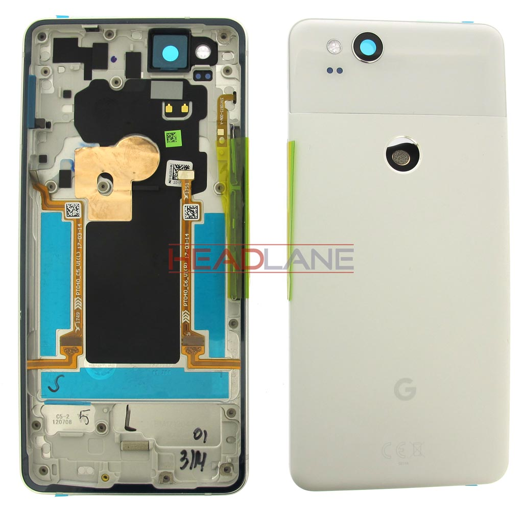 Google Pixel 2 Battery / Back Cover + Edge Sensor - White
