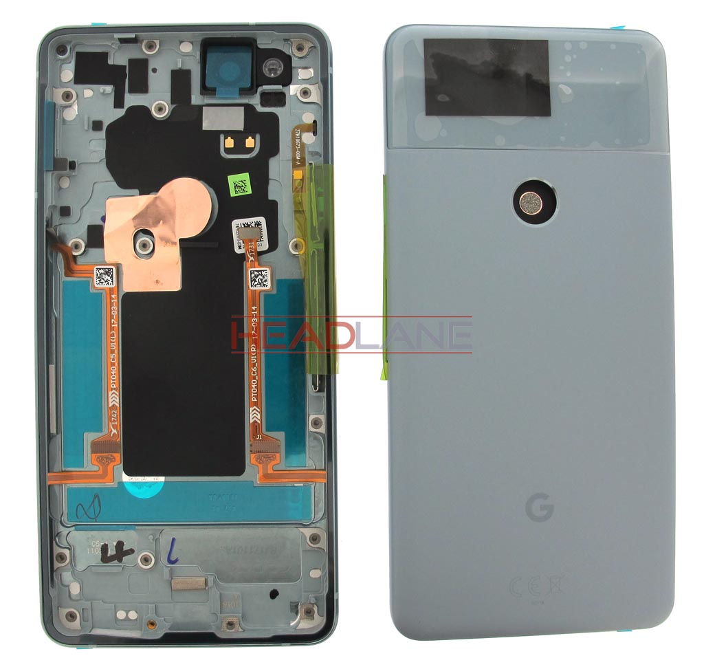 Google Pixel 2 Battery / Back Cover + Edge Sensor - Blue