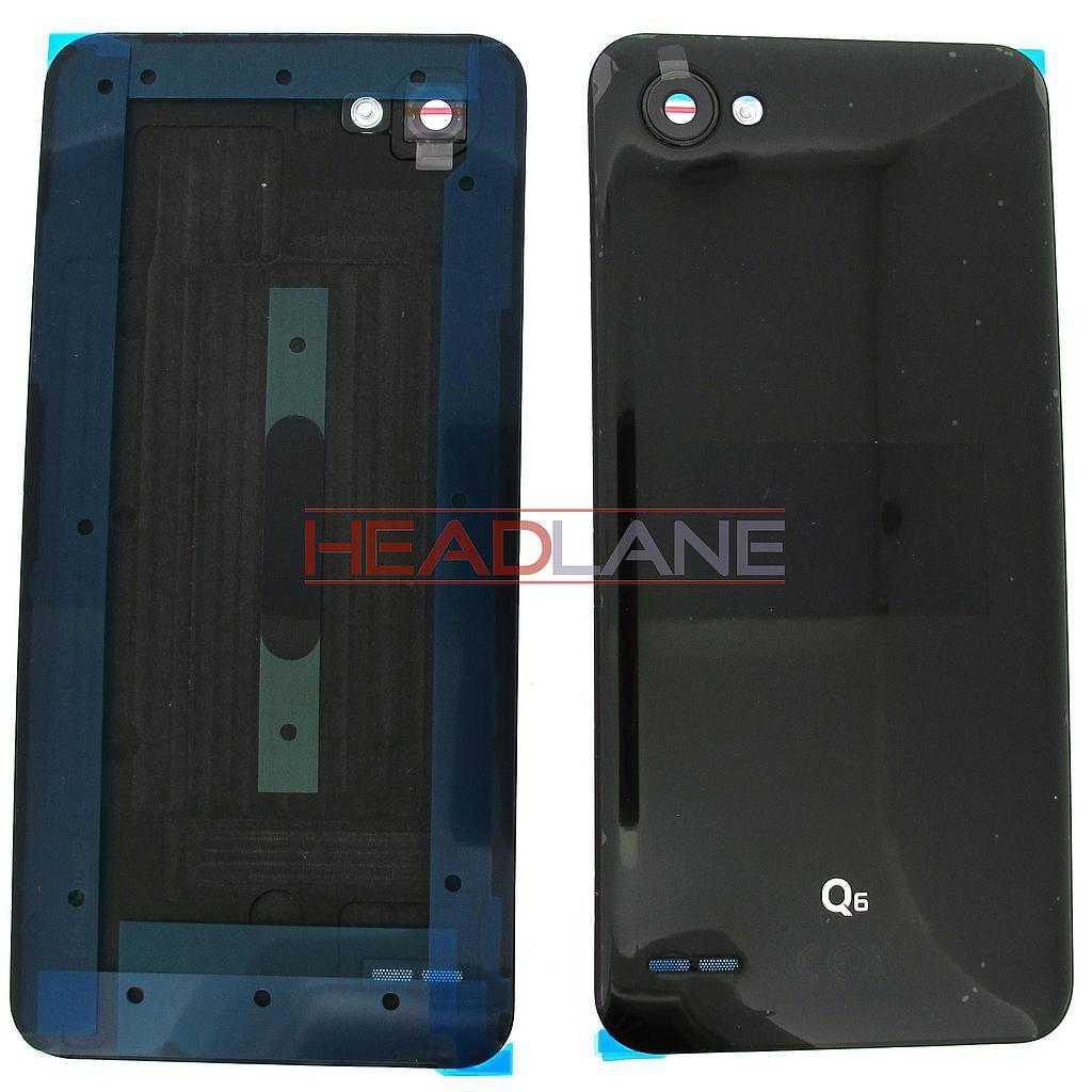 LG M700N Q6 Battery Cover - Black