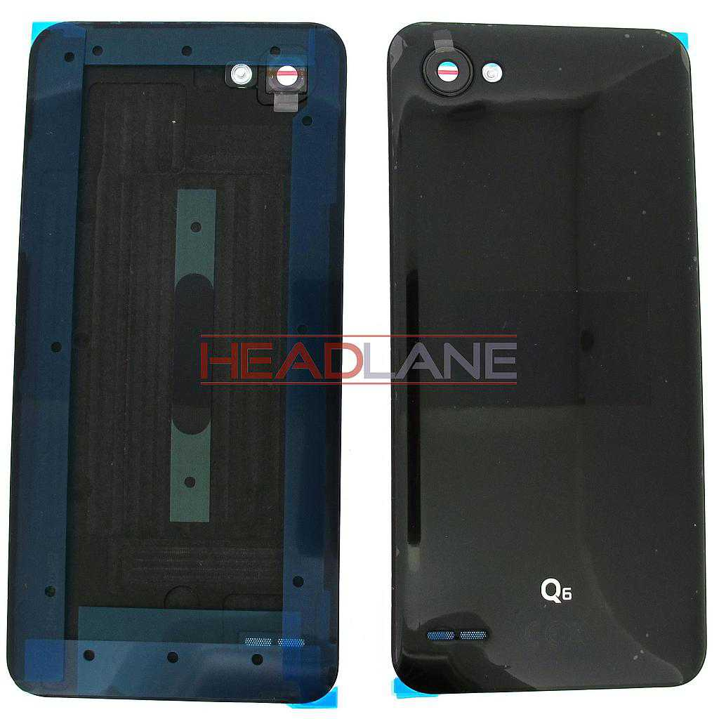 LG M700N Q6 Battery Cover - Black