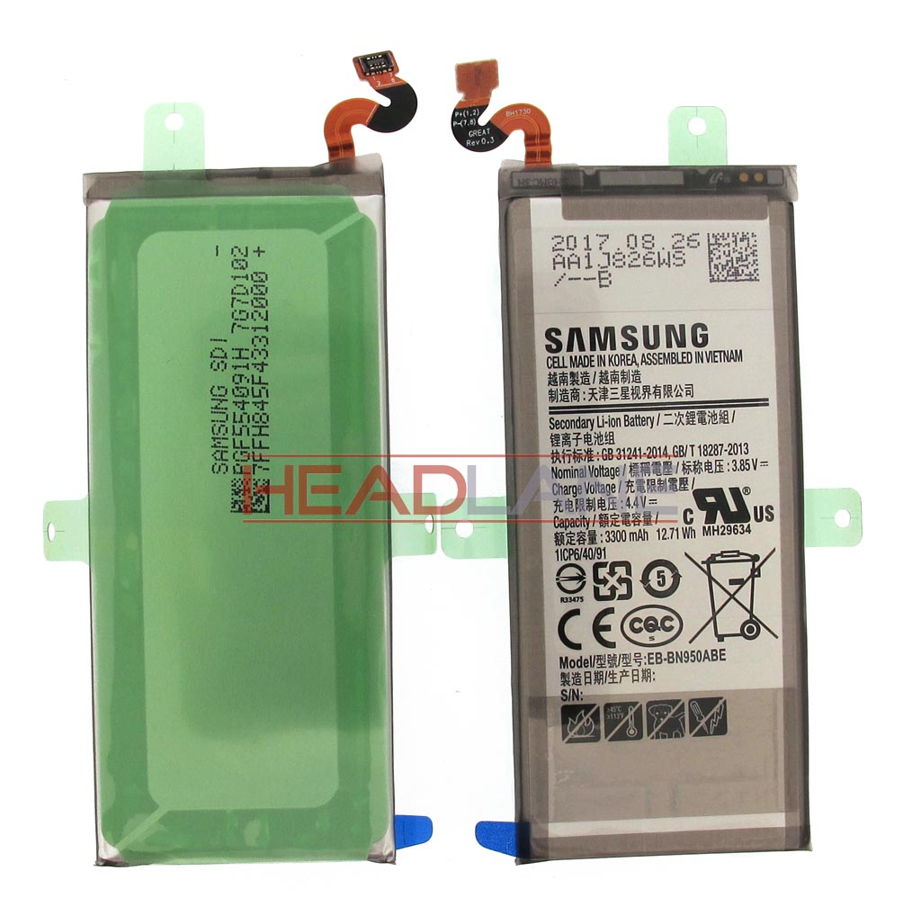 Samsung SM-N950 Galaxy Note 8 EB-BN950ABE 3300 mAh Internal Battery