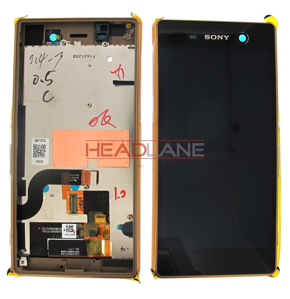 Sony E5603 E5606 Xperia M5 LCD Display / Screen + Touch - Gold
