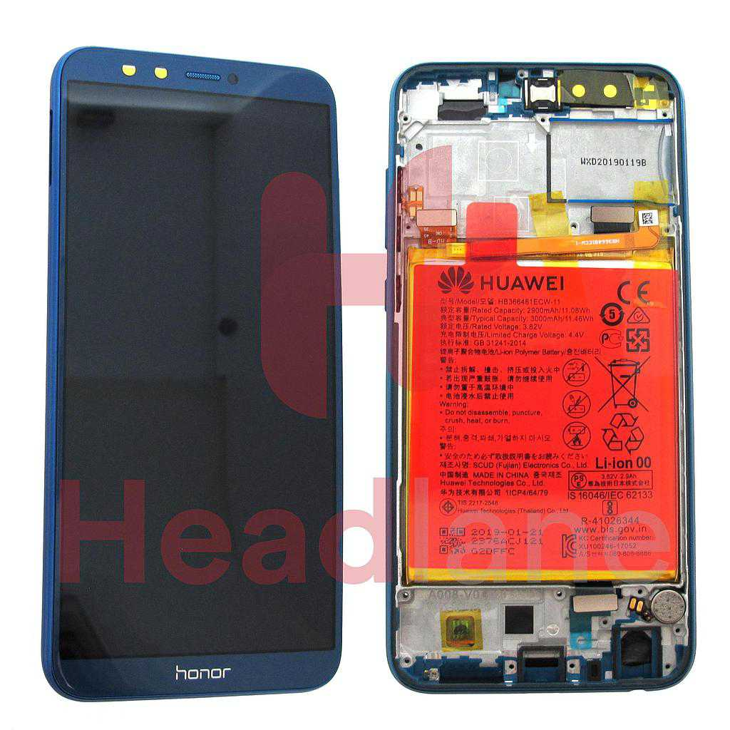 Huawei Honor 9 Lite LCD Display / Screen + Touch + Battery Assembly - Blue