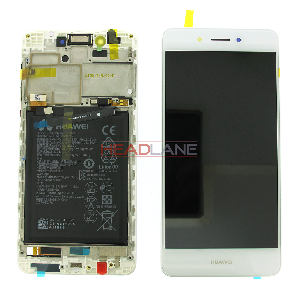 Huawei Nova Smart LCD Display / Screen + Touch + Battery Assembly - White
