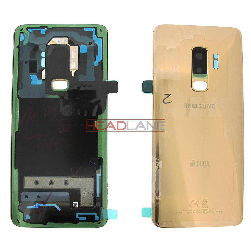 Samsung SM-G965F Galaxy S9+ Hybrid SIM Battery Cover - Gold