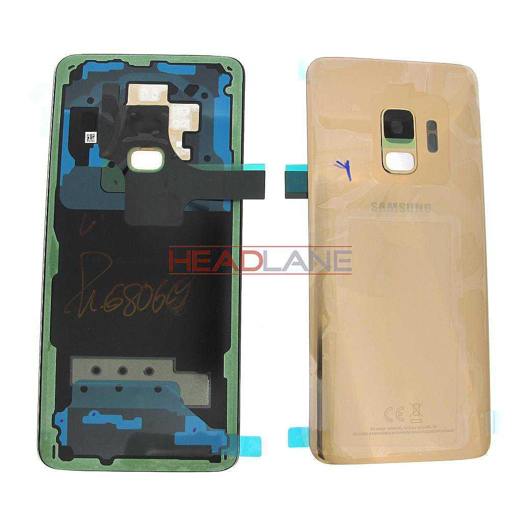 Samsung SM-G960F Galaxy S9 Single SIM Battery Cover - Gold
