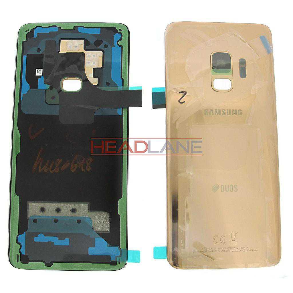 Samsung SM-G960F Galaxy S9 Hybrid SIM Battery Cover - Gold