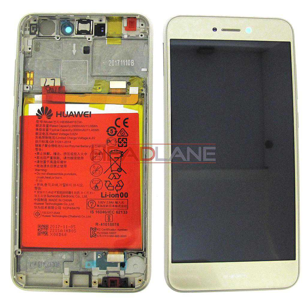 Huawei P8 Lite (2017) LCD Display / Screen + Touch + Battery Assembly - Gold