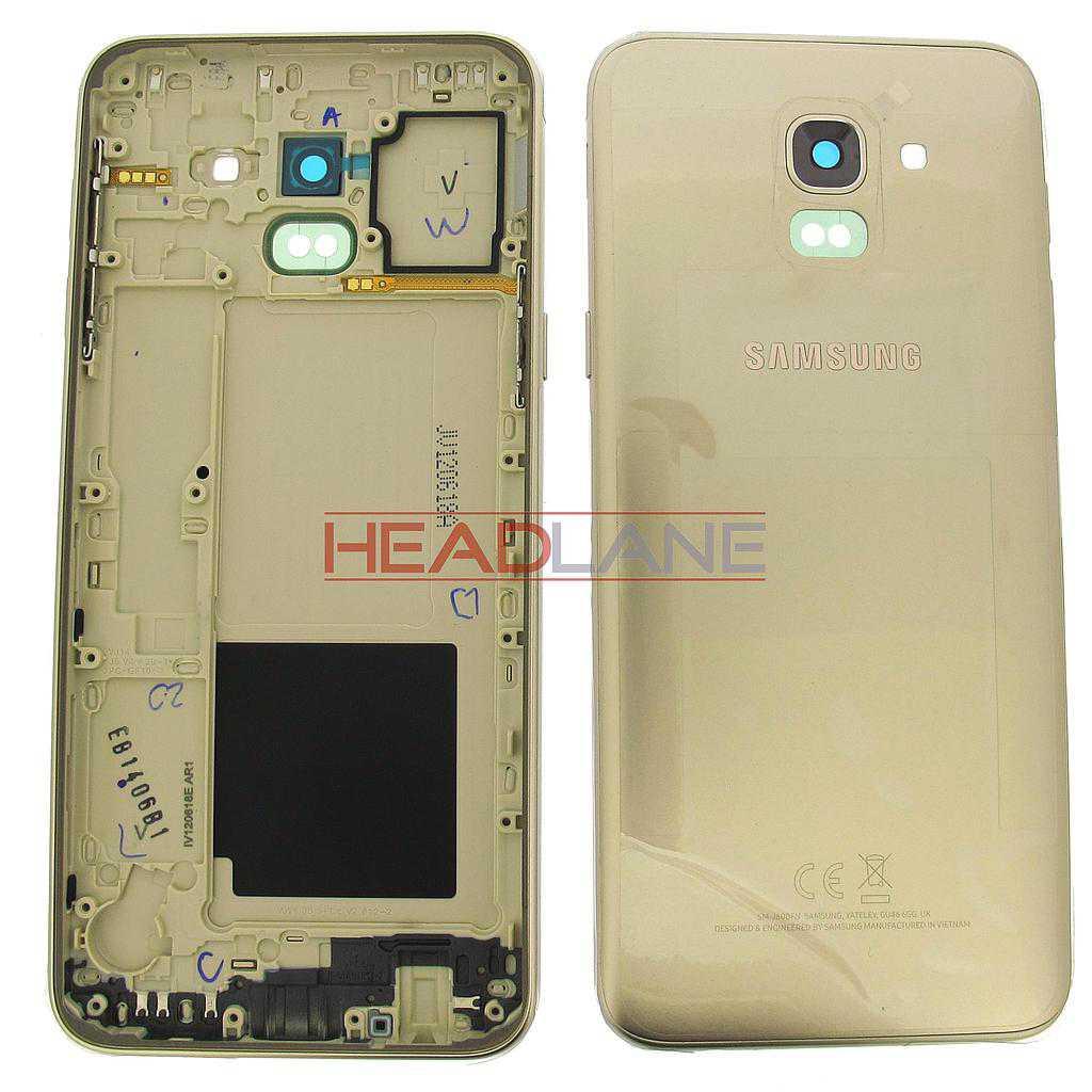 Samsung SM-J600 Galaxy J6 (2018) Back / Battery Cover - Gold