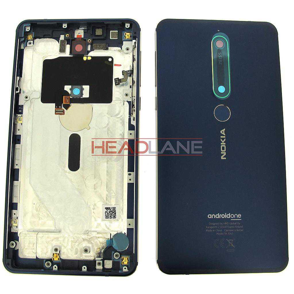 Nokia TA-1043 6.1 Back / Battery Cover Dual SIM - Blue