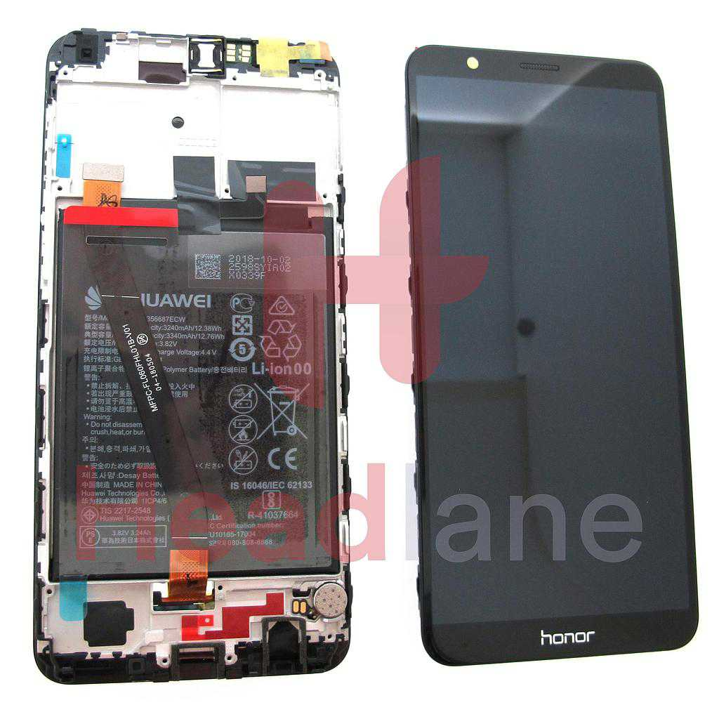 Huawei Honor 7X LCD Display / Screen + Touch + Battery - Black