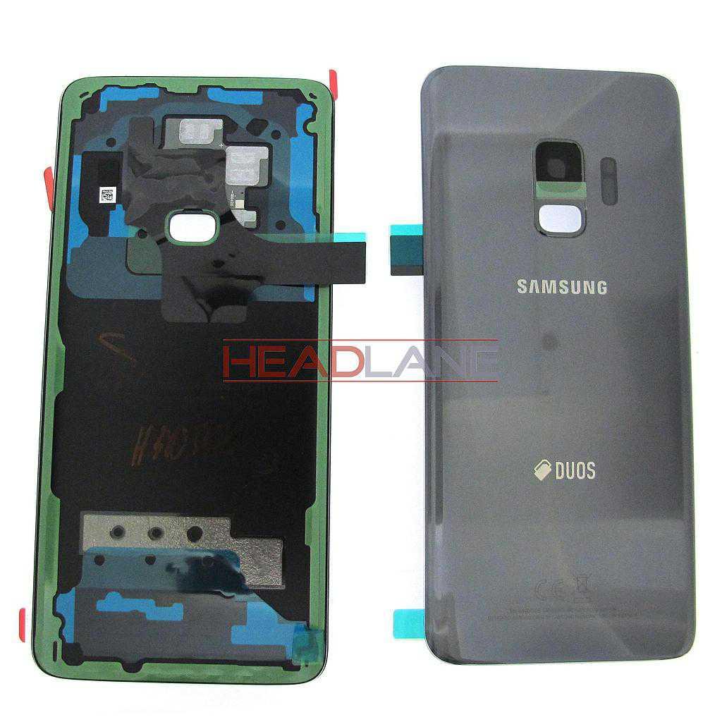 Samsung SM-G960F Galaxy S9 Hybrid SIM Battery Cover - Grey