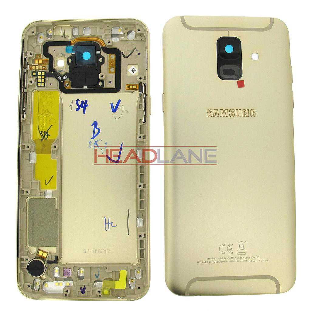 Samsung SM-A600 Galaxy A6 (2018) Battery Cover - Gold (Dual SIM)