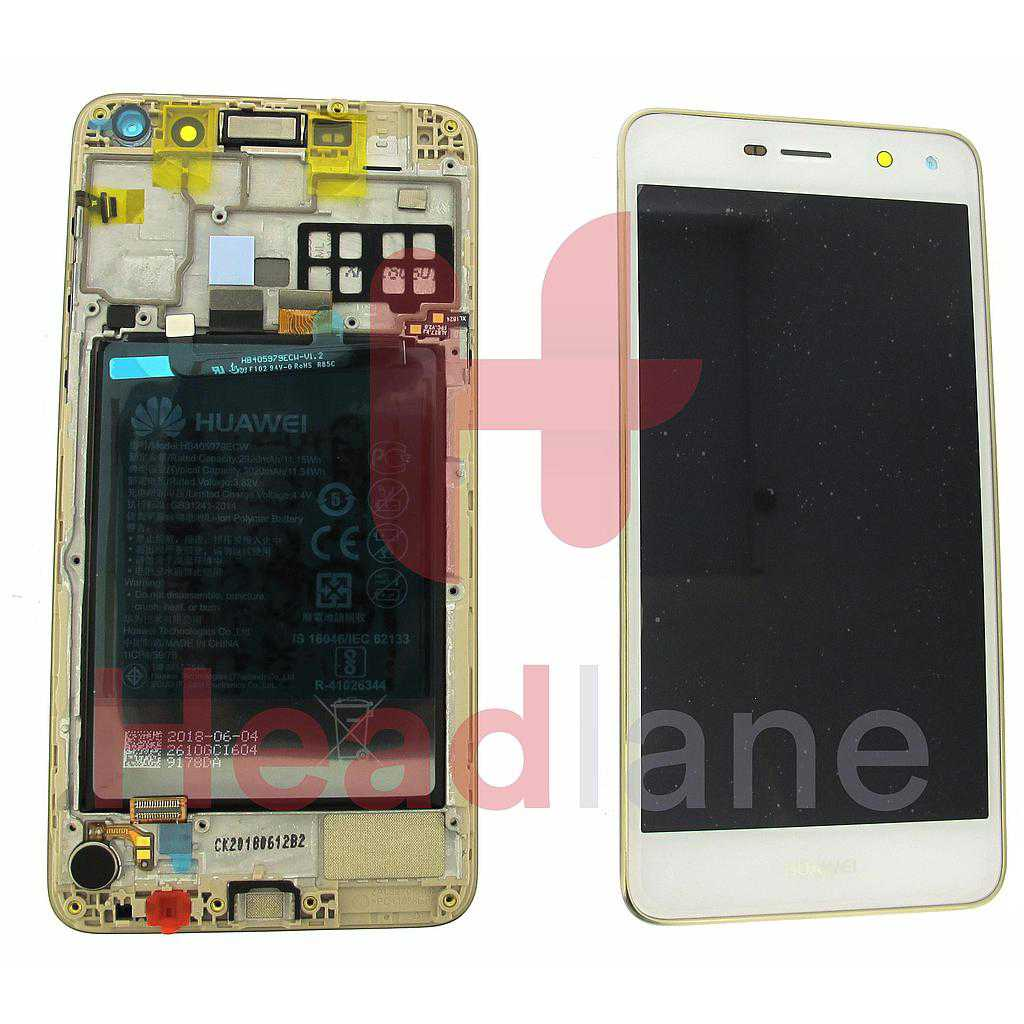 Huawei Y5 (2017) LCD Display / Screen + Touch - Gold / White