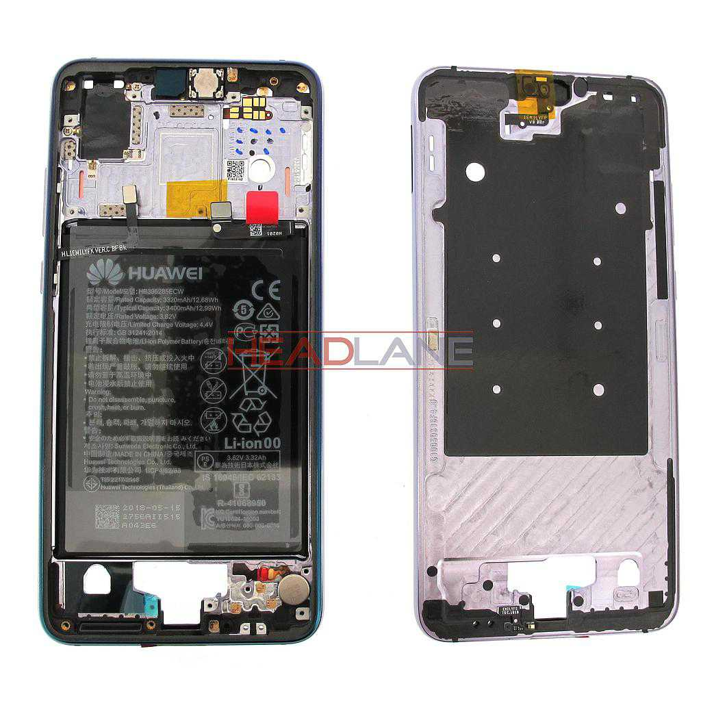 Huawei P20 Middle Cover / Chassis + Battery - Twilight