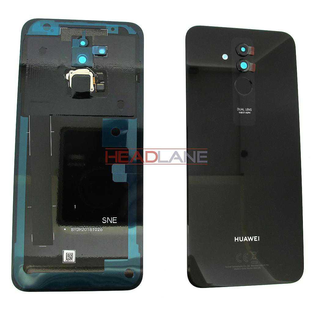 Huawei Mate 20 Lite Battery / Back Cover + Fingerprint Sensor / Reader - Black