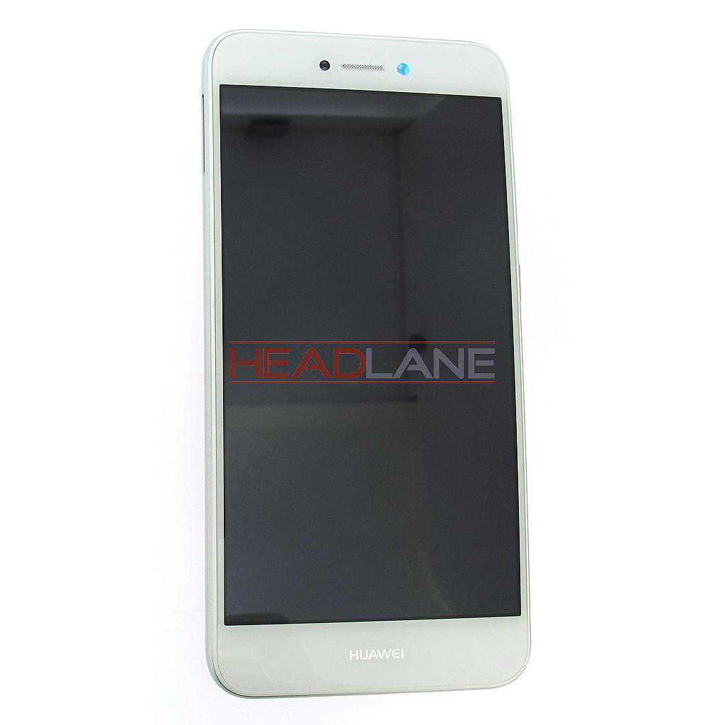Huawei P8 Lite (2017) LCD Display / Screen + Touch + Battery Assembly - White