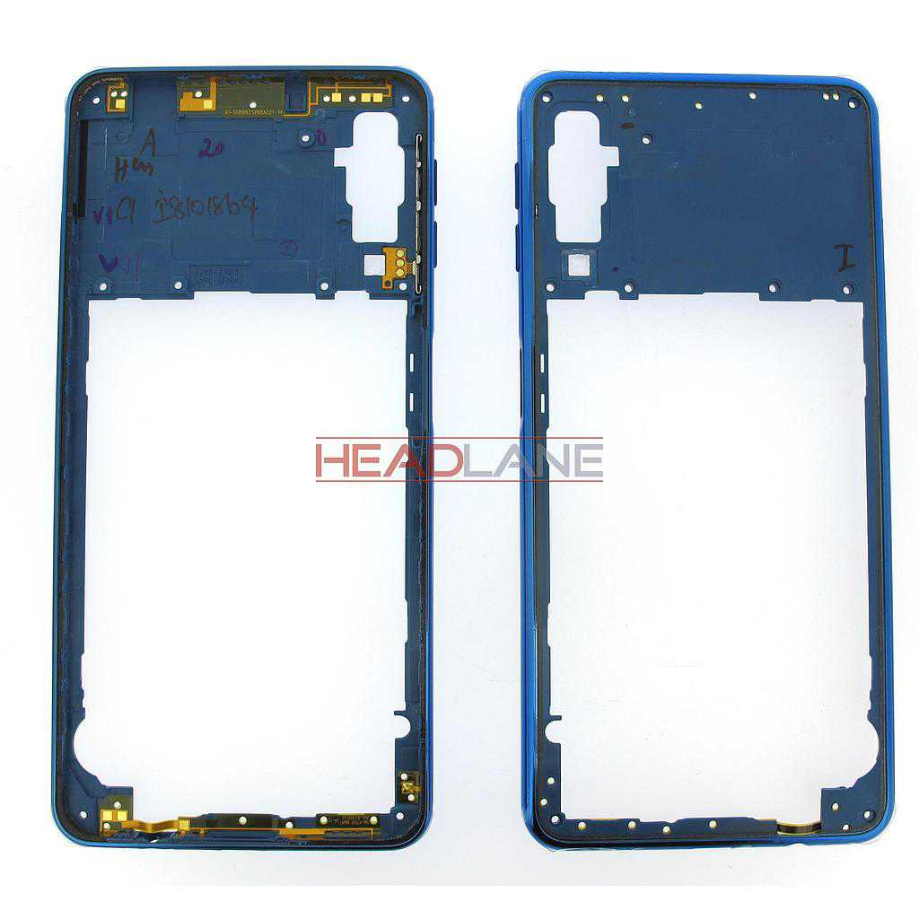 Samsung SM-A750 Galaxy A7 (2018) Middle Cover / Chassis - Blue
