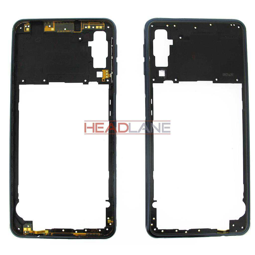 Samsung SM-A750 Galaxy A7 (2018) Middle Cover / Chassis - Black