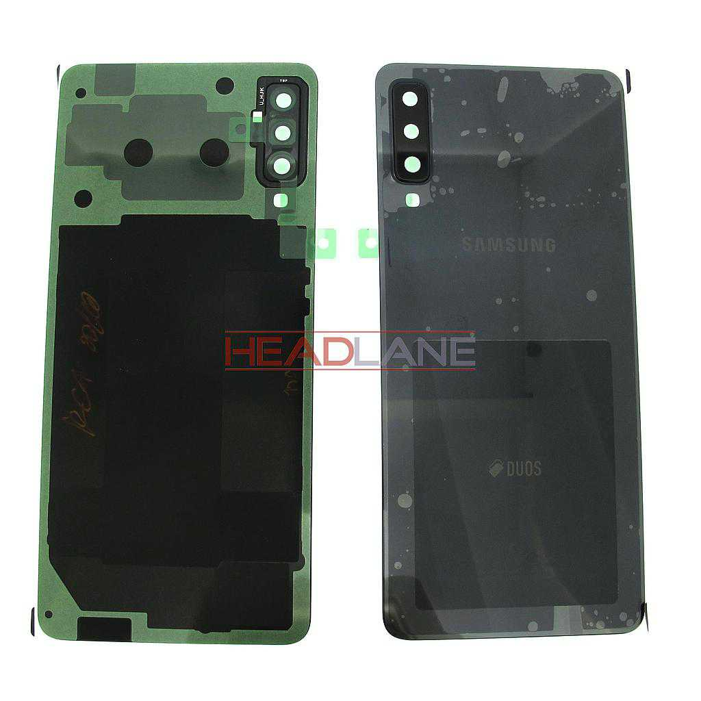 Samsung SM-A750 Galaxy A7 (2018) DUOS Back / Battery Cover - Black