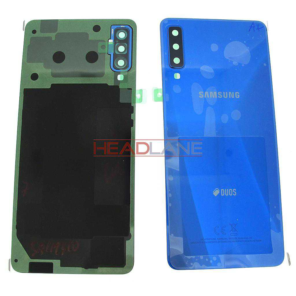 Samsung SM-A750 Galaxy A7 (2018) DUOS Back / Battery Cover - Blue