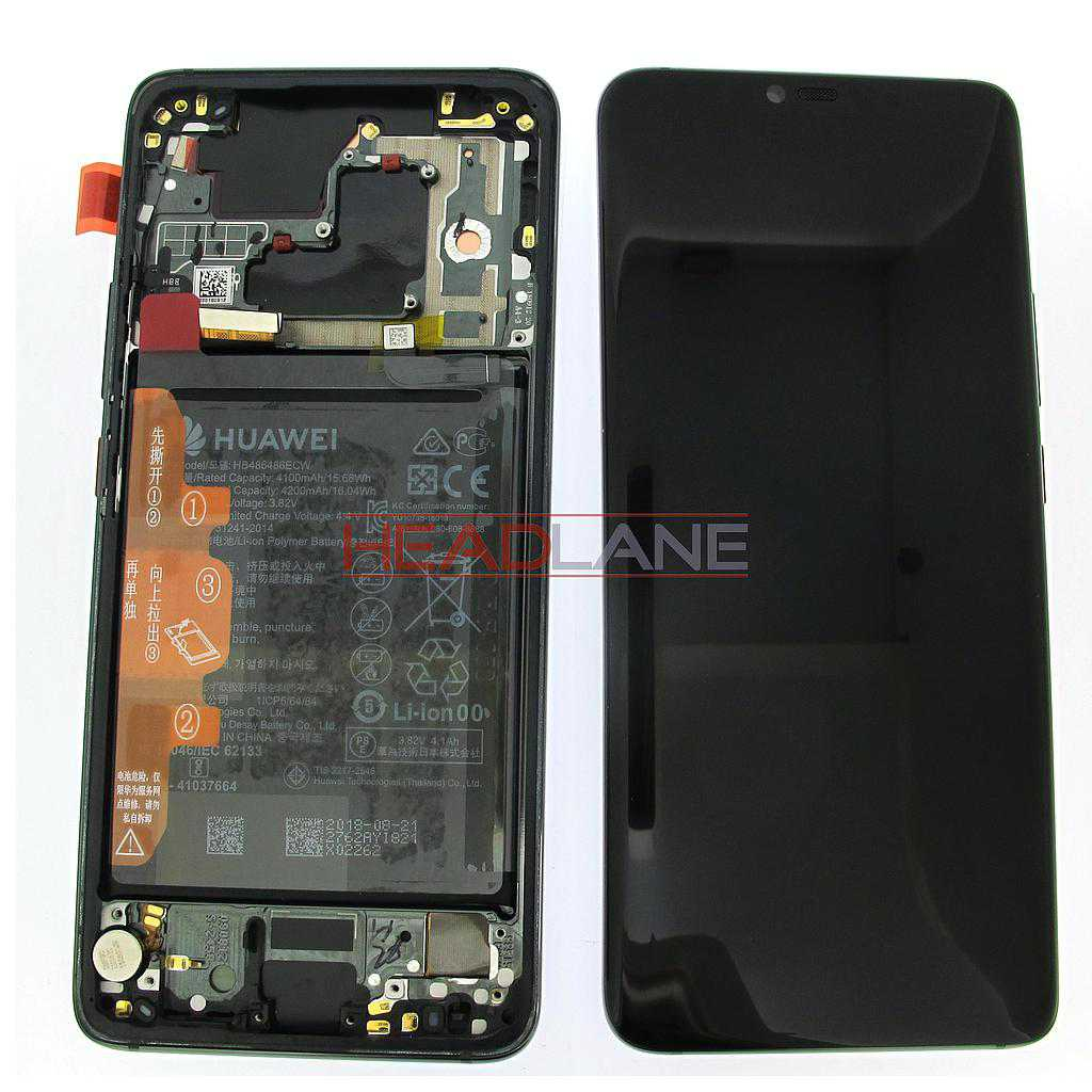 Huawei Mate 20 Pro LCD Display / Screen + Touch + Battery Assembly - Black