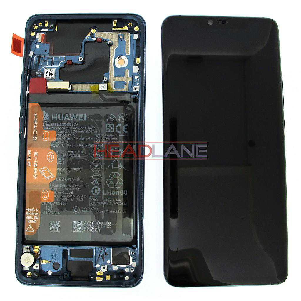 Huawei Mate 20 Pro LCD Display / Screen + Touch + Battery Assembly - Midnight Blue