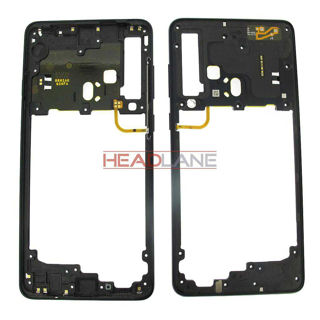 Samsung SM-A920 Galaxy A9 (2018) Middle Cover / Chassis - Black
