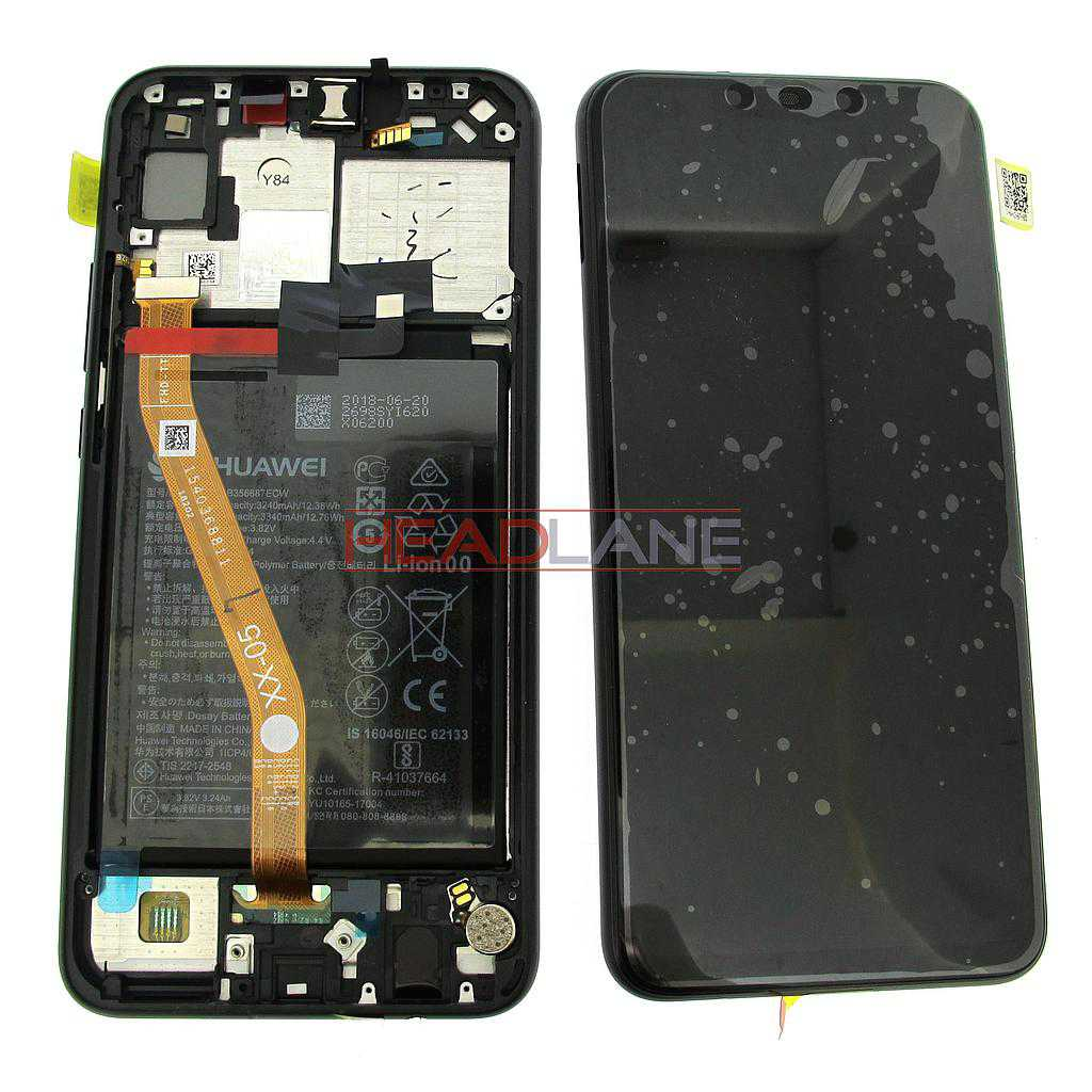 Huawei P Smart+ / P Smart Plus LCD Display / Screen + Touch + Battery Assembly - Black