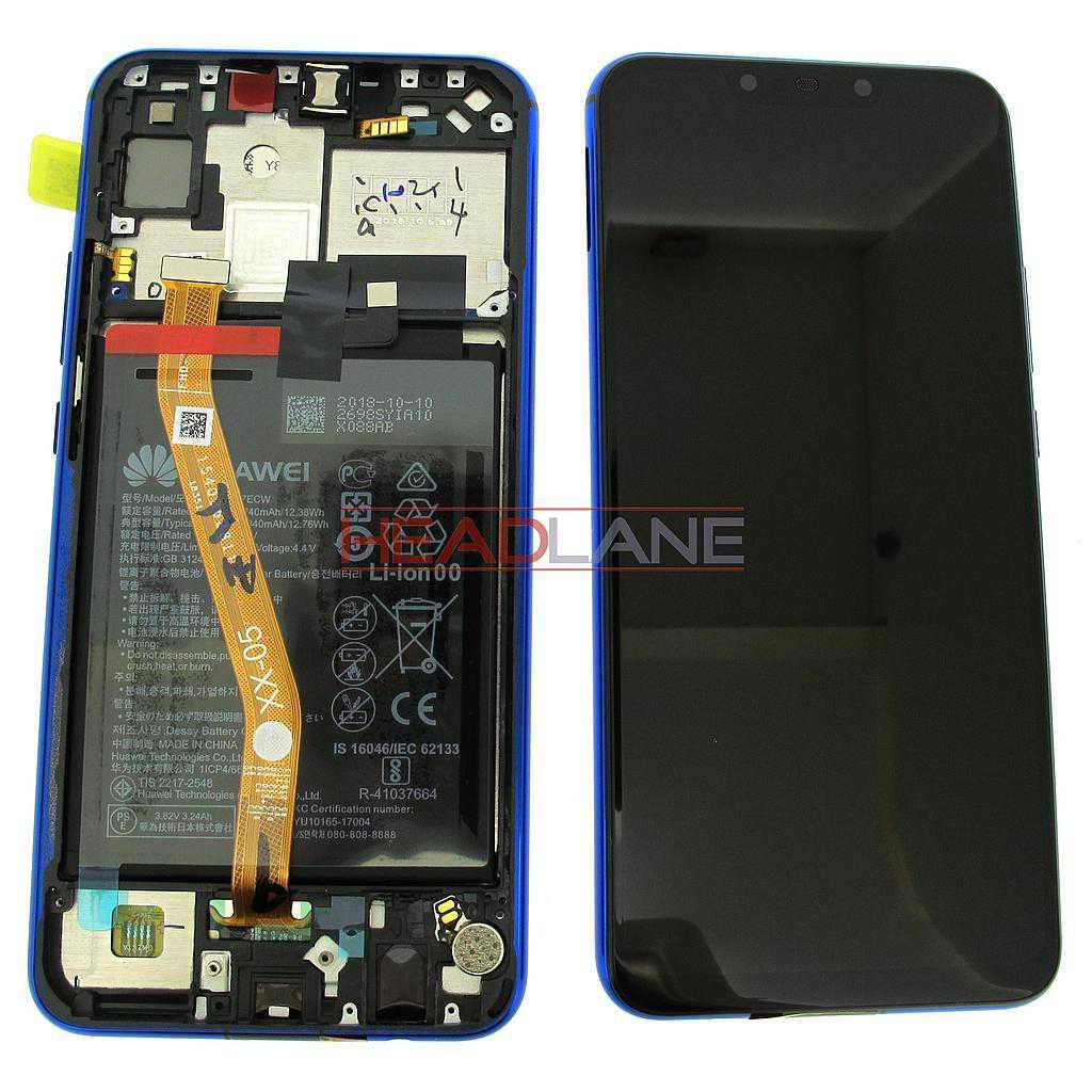 Huawei P Smart+ / P Smart Plus Nova 3i LCD Display / Screen + Touch + Battery Assembly - Purple