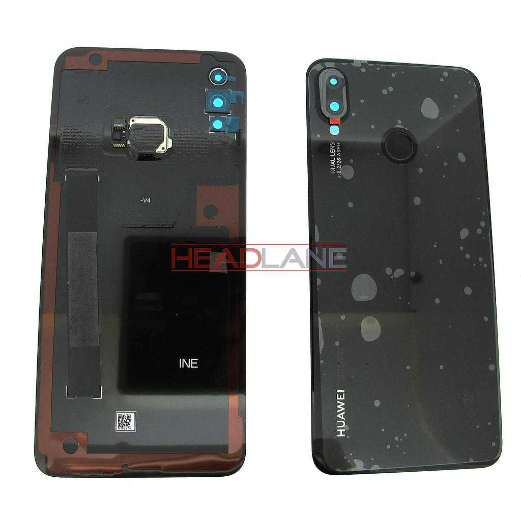 Huawei P Smart+ / P Smart Plus Back / Battery Cover - Black