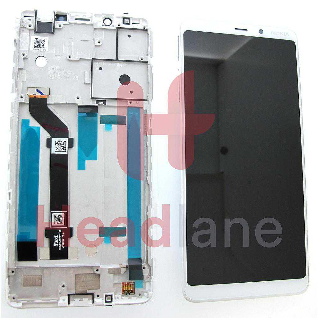 Nokia 3.1+ TA-1104 TA-1125 LCD Display / Screen + Touch - White
