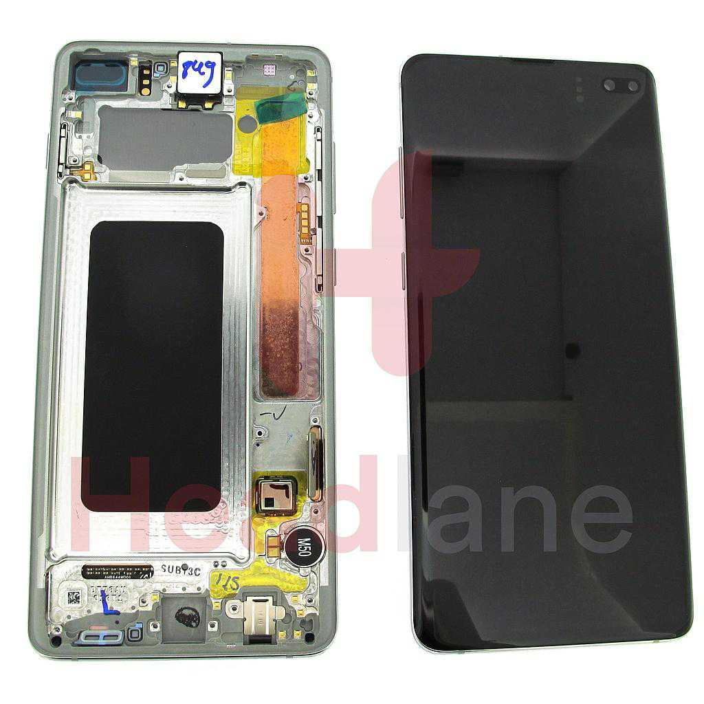 Samsung SM-G975 Galaxy S10+ / S10 Plus LCD Display / Screen + Touch - Prism White
