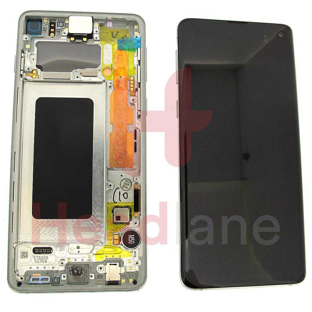 Samsung SM-G973 Galaxy S10 LCD Display / Screen + Touch - Prism White
