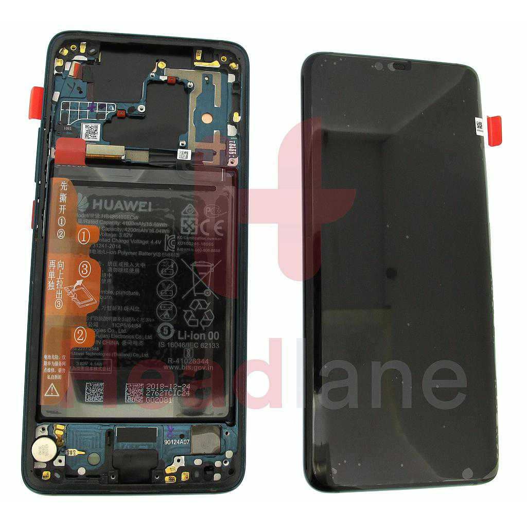 Huawei Mate 20 Pro LCD Display / Screen + Touch + Battery Assembly - Emerald Green