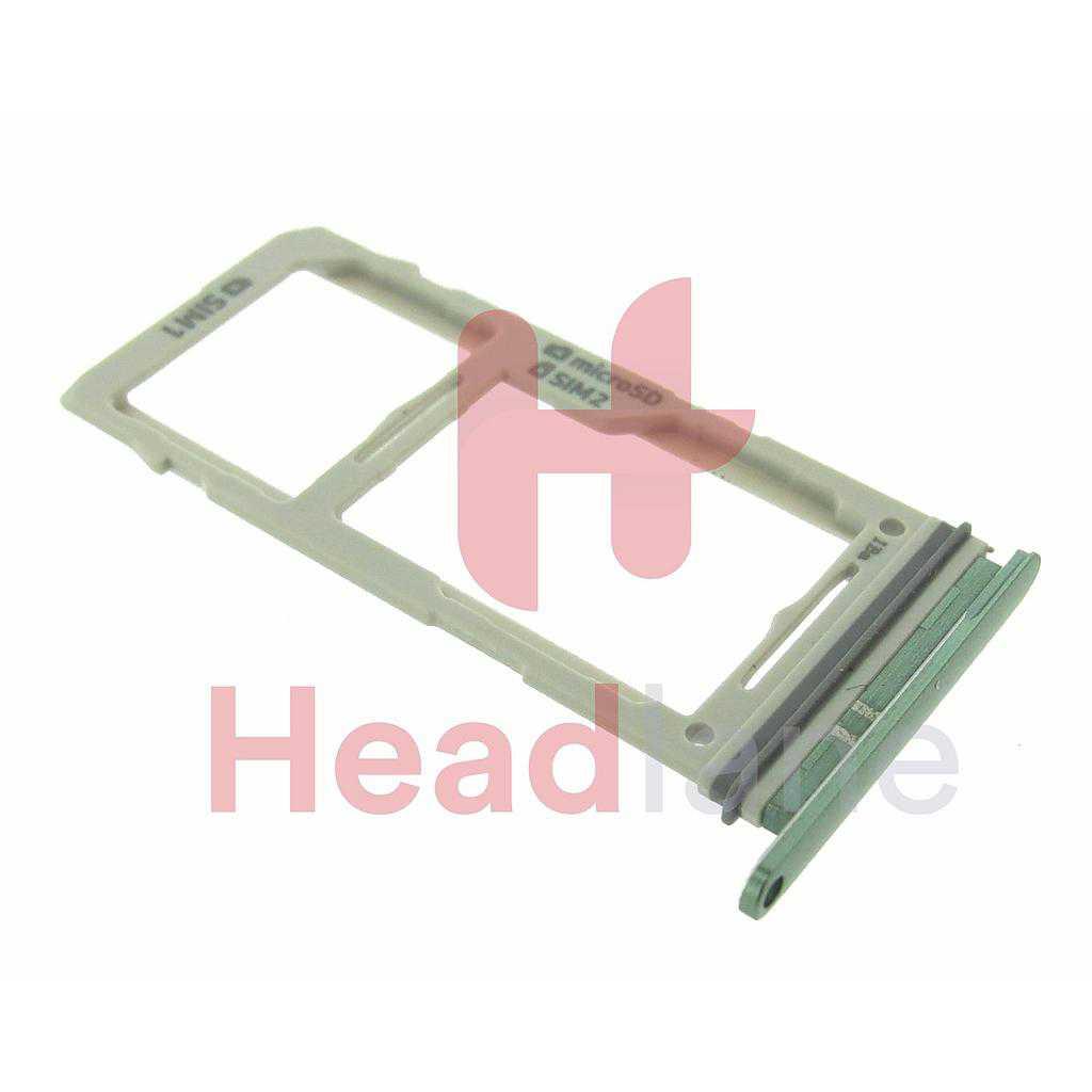 Samsung SM-G975 Galaxy S10+ / S10 Plus SIM / Memory Card Tray (Hybrid / Dual SIM) - Prism Green