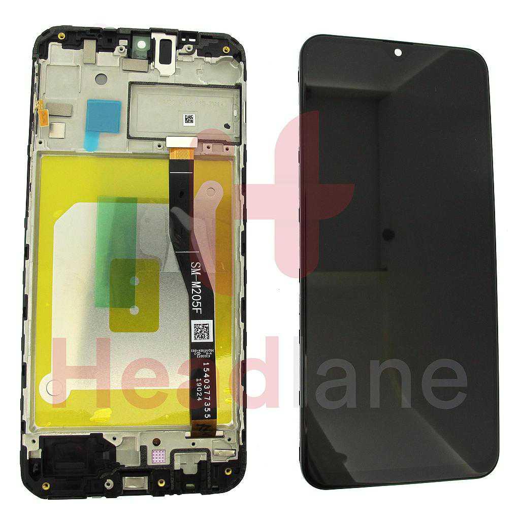 Samsung SM-M205 Galaxy M20 LCD Display / Screen + Touch - Black / Blue