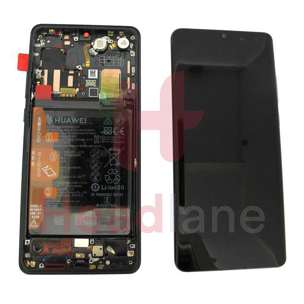 Huawei P30 Pro LCD Display / Screen + Touch + Battery Assembly - Black
