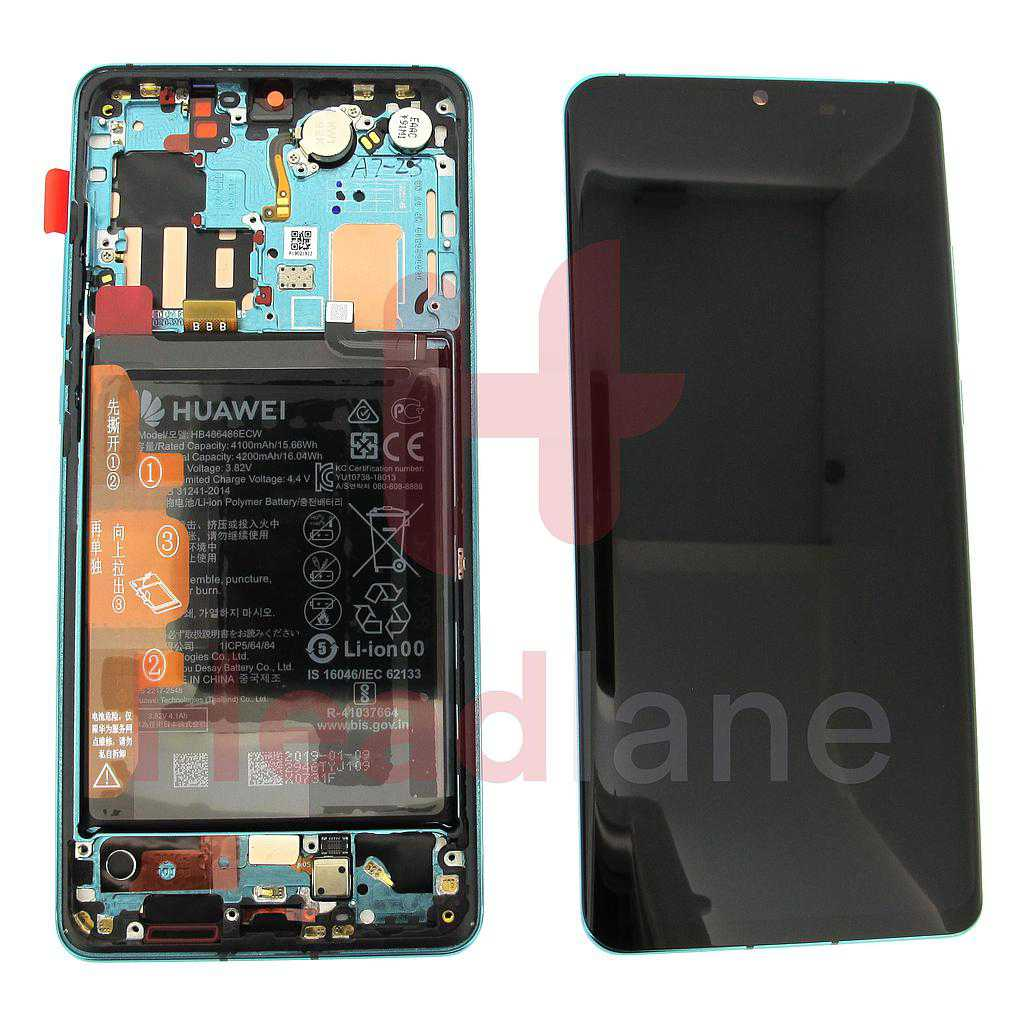 Huawei P30 Pro LCD Display / Screen + Touch + Battery Assembly - Aurora Blue