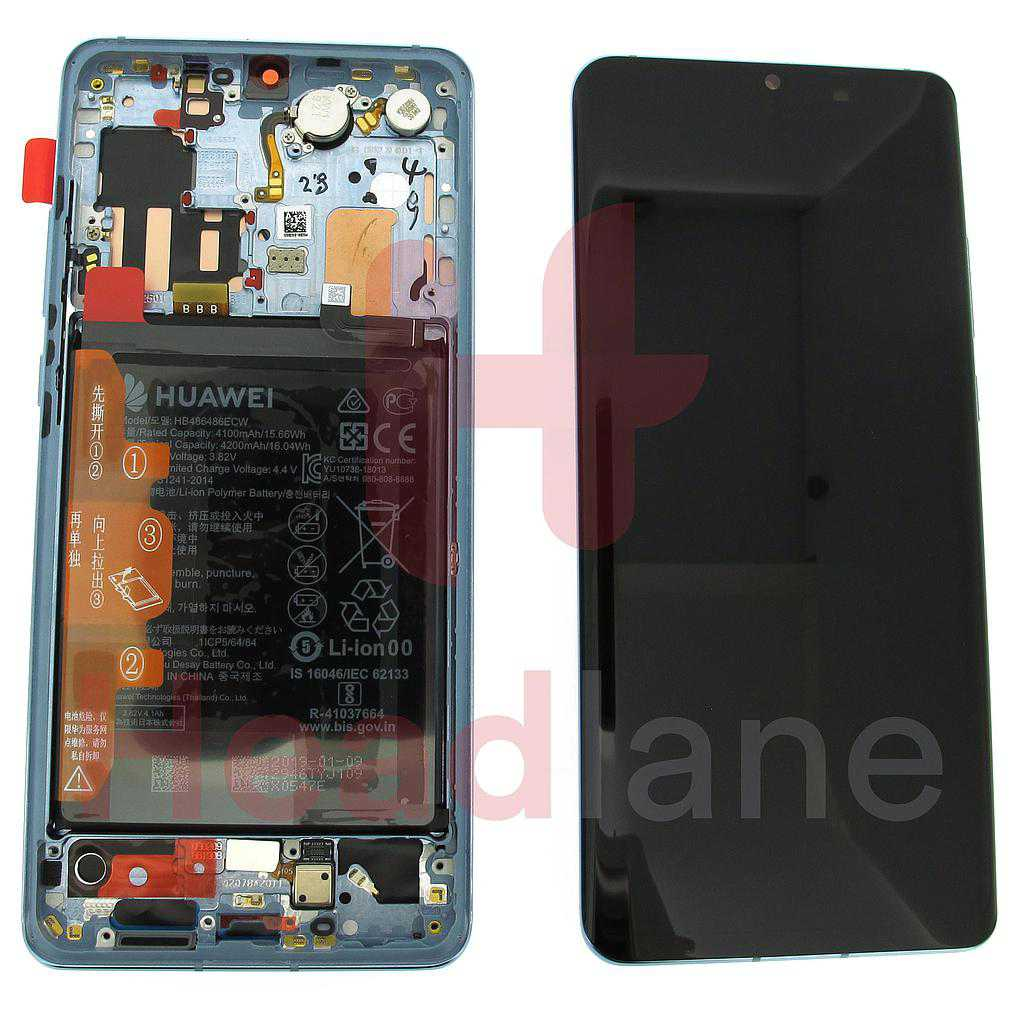 Huawei P30 Pro LCD Display / Screen + Touch + Battery Assembly - Breathing Crystal