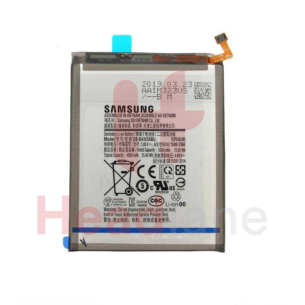 Samsung SM-A505 A205 A305 A307 A507 Galaxy A50 A20 A30 A30s A50s EB-BA505ABU Internal Battery
