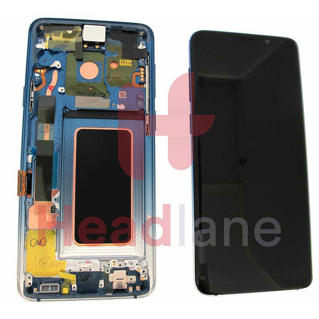 Samsung SM-G965F Galaxy S9+ LCD Display / Screen + Touch - Polaris Blue
