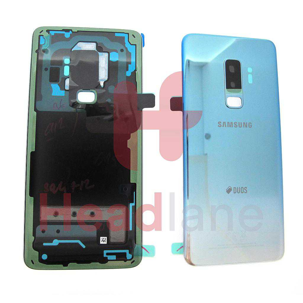 Samsung SM-G965F Galaxy S9+ Hybrid SIM Battery Cover - Polaris Blue